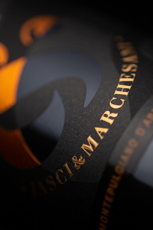 Particolare etichetta Rudhir Montepulciano d'Abruzzo DOC Jasci&Marchesani