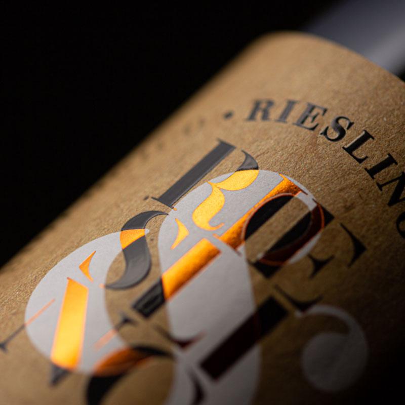 Particolare etichetta Riesling IGT Jasci&Marchesani